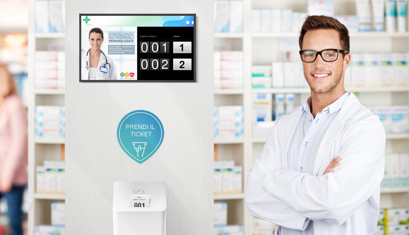 Nuovo emettitore di ticket digitale per farmacie: Kiosk Qmicro