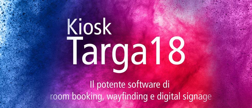 Nuovo Kiosk Targa 18 – Il software per la prenotazione delle sale riunioni, direttorio e digital signage