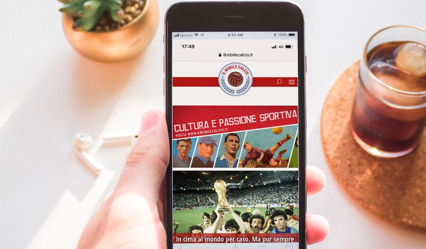 Studio del logo e disegno sito web per ilnobilecalcio.it